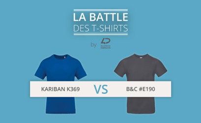La battle des t-shirts : B&C #E190 vs Kariban K369