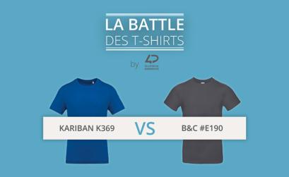 La battle des t-shirts : B&C #E190 vs Kariban K369